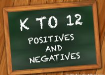 Positive and negative effects of k to 12